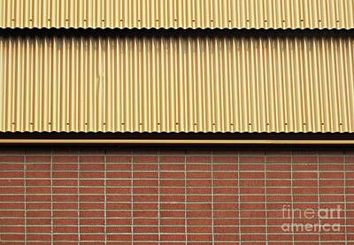 Photograph - Brick And Metal by Ethna Gillespie