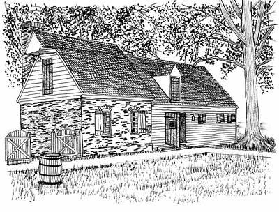 Brick And Siding Building With Loft Art Print