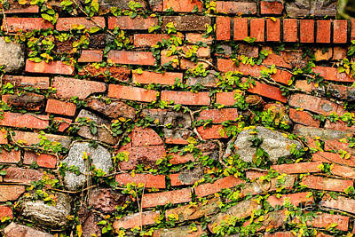 Photograph - Brick And Stone Wall by Ben Graham