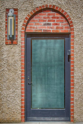 Digital Art - Brick And Stucco With A Door by John Haldane