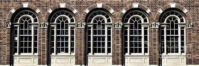 Art Print featuring the photograph Brick Arch Windows by Brad Allen Fine Art