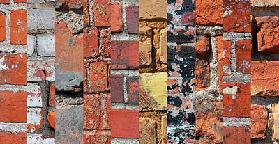 Photograph - Brick Art by Mary Bedy