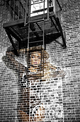 Blending Photograph - Brick Babe In The City by John Rizzuto