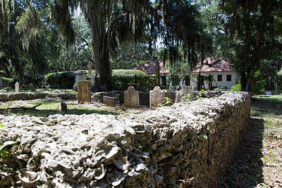 Photograph - Brick Baptist Cemetery by Ed Waldrop