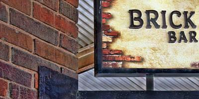 Art Print featuring the photograph Brick Bar by Nikolyn McDonald