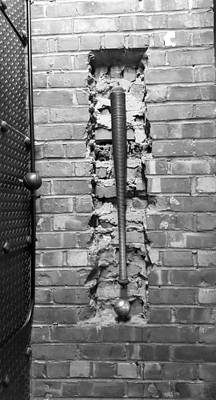 Photograph - Brick, Bat And Ball B W by Rob Hans