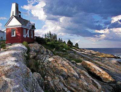 Photograph - Brick Bell House At Pemaquid Point Light by Joy Nichols