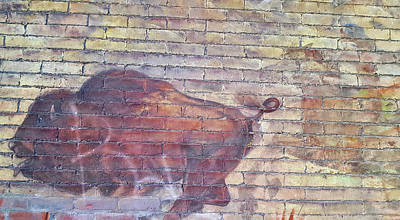 Photograph - Brick Buffalo by JAMART Photography