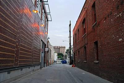 Photograph - Brick Building Alley by Matt Harang