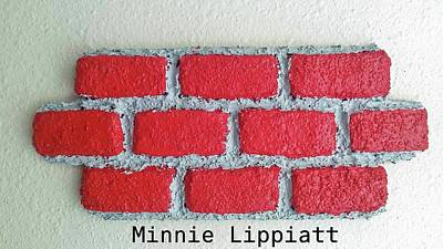Mixed Media - Brick By Brick We Move Forward by Minnie Lippiatt