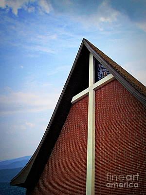 Photograph - Brick Church, Blue Sky by Jenness Asby