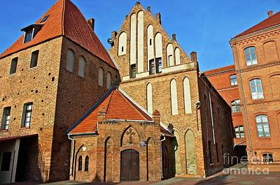 Photograph - Brick Gothic Poland by Elzbieta Fazel