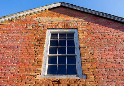 Photograph - Brick House Window by Derek Dean