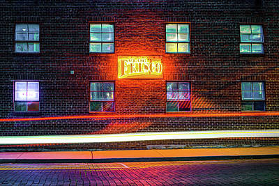 Photograph - Brick Landscape Of Lights - Rogers Arkansas Downtown by Gregory Ballos