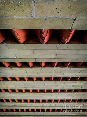 Brick Patterned Abstract Art Print by James Aiken