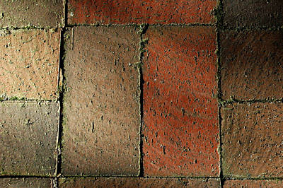 Photograph - Brick Pavers by David Weeks
