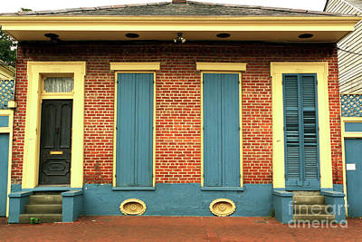 Brick Row House In New Orleans Art Print