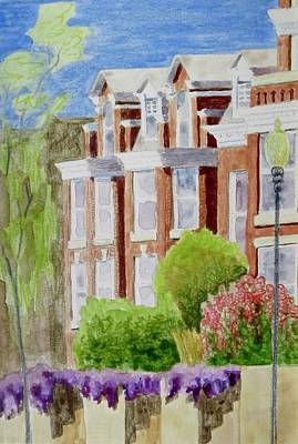 Bethany Lee Painting - Brick Row Houses by Bethany Lee