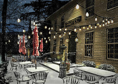 Digital Art - Brick Street Inn by Jonathan Carr