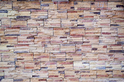 Photograph - Brick Tiled Wall by John Williams