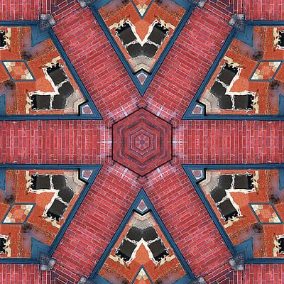 Photograph - Brick Walkway Kaleidoscope by Cindi Ressler