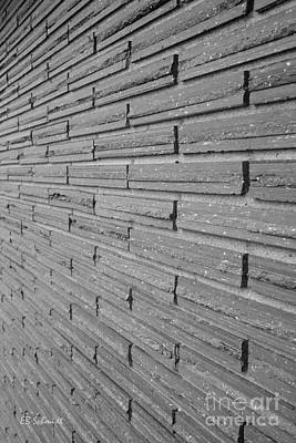 Photograph - Brick Wall 1 In Black And White by E B Schmidt
