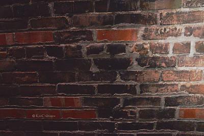 Photograph - Brick Wall Abstract by Kae Cheatham