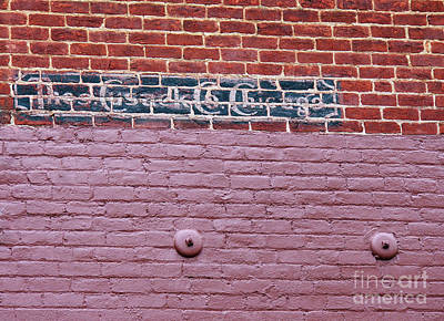 Cusack Photograph - Brick Wall Ad by Jennifer Robin