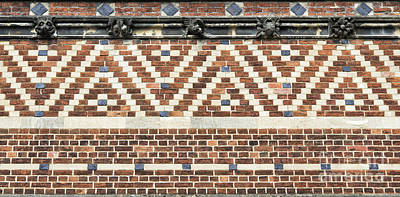Brick Building Photograph - Brick Wall Pattern Oxford by Tim Gainey