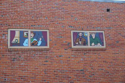Brick Wall Street Art Art Print by Robert Braley