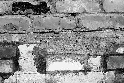 Photograph - Brick Wall With Character 3 Bw by Mary Bedy