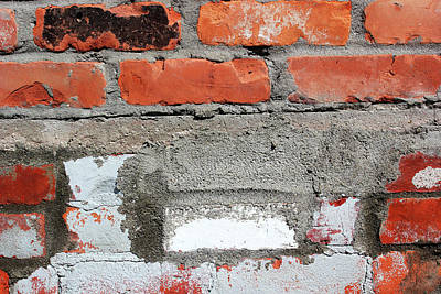 Photograph - Brick Wall With Character 3 by Mary Bedy