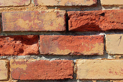 Photograph - Brick Wall With Character by Mary Bedy