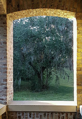 Photograph - Brick Window, Mepkin Abbey by E Karl Braun