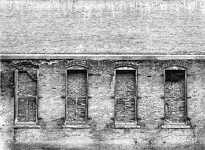 Photograph - Brick Winows by Peter Tompkins