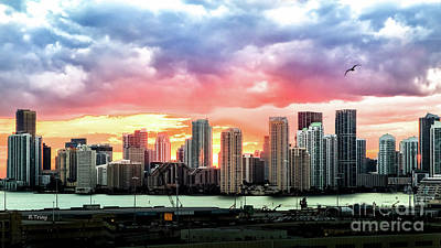 Photograph - Brickell On Fire by Rene Triay Photography