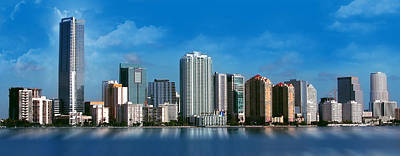 Photograph - Brickell Skyline 1 by Bibi Rojas