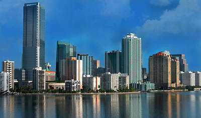 Miami Photograph - Brickell Skyline 2 by Bibi Romer