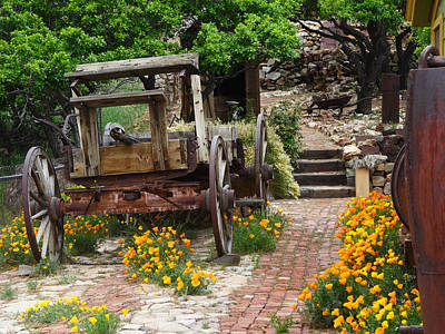 Photograph - Bricks And Poppies by Jacqueline  DiAnne Wasson