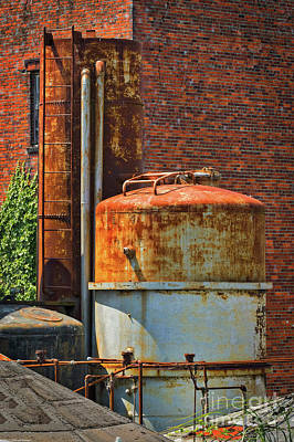 Photograph - Bricks And Rust by Mitch Shindelbower