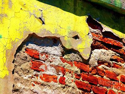Bricks And Yellow By Michael Fitzpatrick Art Print by Mexicolors Art Photography