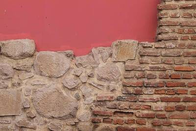Photograph - Bricks, Stones, Mortar And Walls - 2 by Hany J