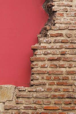 Photograph - Bricks, Stones, Mortar And Walls - 3 by Hany J