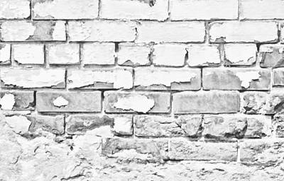Photograph - Brickwork 01 B/w by Greg Jackson