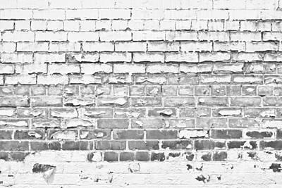Photograph - Brickwork 02 - B/w by Greg Jackson