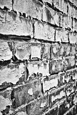 Photograph - Brickwork 03 - Oblique - B/w by Greg Jackson