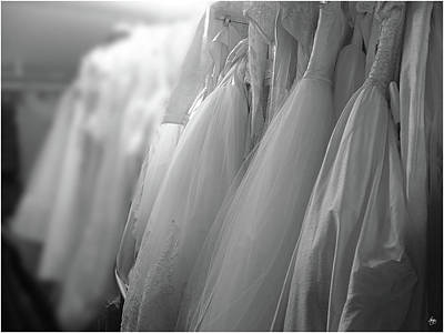 Photograph - Bridal Gowns by Wayne King