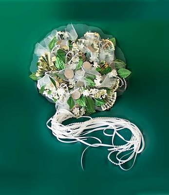 Wall Art - Photograph - Bridal Money Bouquet by Elle Smith Fagan