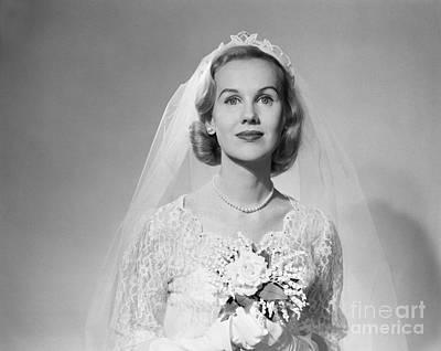 Bridal Jewelry Photograph - Bridal Portrait, C.1950s by Debrocke/ClassicStock