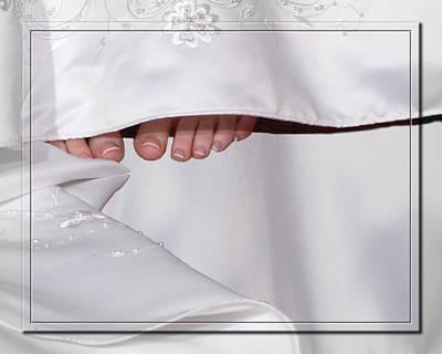 Bridal Toes Art Print